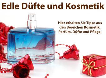 Parfüm, Kosmetik, Düfte als Weihnachtsgeschenke