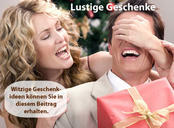 Blick auf lustige Weihnachtsgeschenke für Männer, Paare und Frauen mit Tipps und Angeboten