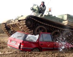 Panzer fahren als Maennergeschenk