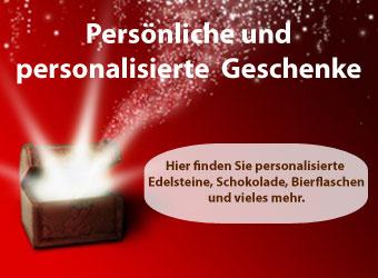 Persoenliche und personalisierte Geschenke zu Weihnachten