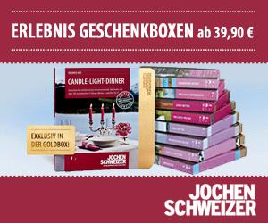 Geschenkideen, Erlenbisboxen und mehr bei Jochen Schweizer