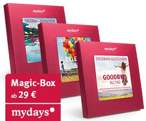 Geschenk zu Weihnachten der besonderen Art: Magic-Boxen von Mydays